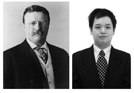Kiri-Theodore Roosevelt; Kanan-Penulis