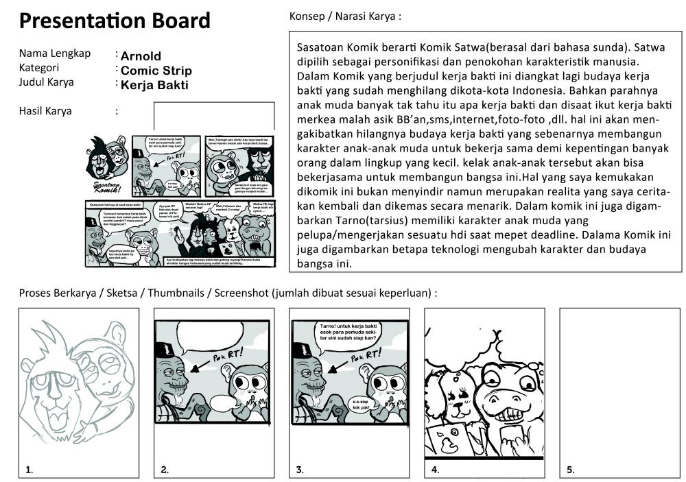 Presentation Board SASATOAN COMIC