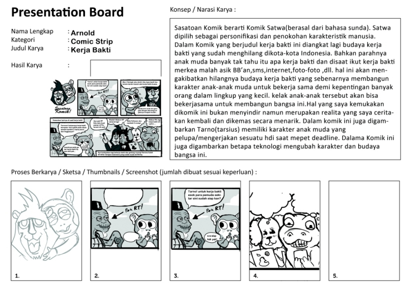 Presentation Board SASATOAN COMIC