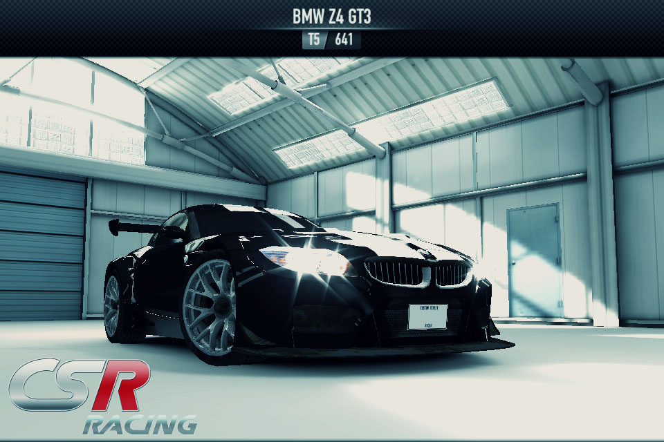 Setelah bosan di 3 tier menggunakan mobil American Muscle pada Tier terakhir ini saya membeli BMW Z4 GT3 yang merupakan mobil eropa! Dibandingkan semua mobil di Tier 5 entah mengapa BMW ini yang meunrut saya paling mumpuni dari penampilannya,ahahha..Bagi saya faktor penampilan(desain body) amat menentukan dibanding mesin mobilnya. Selain keren mobil inipun juga melaju amat kencang dan cepat mencapai top speed. Di dunia nyata saya merupakan penggemar BMW loh terutama motor BMW :-)