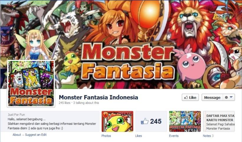 Monster fantasia FB. Kok bisa-bisanya ada yang judulnya sama?ahahaha