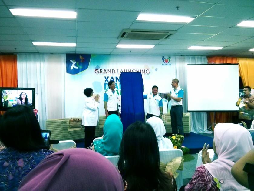 Suasana Launching applikasi Xanesha di gedung XL Bandung