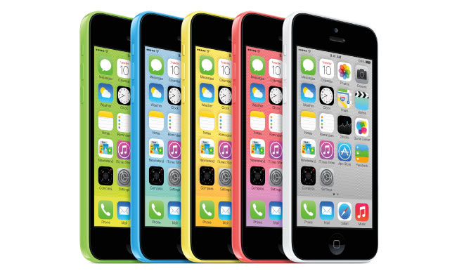 iPhone 5 C. Mirip lumia banget yah!
