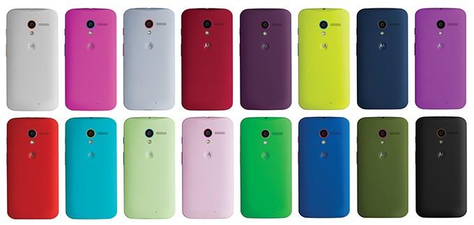 Moto X-Smart Phone Android dengan pilihan warna terbanyak saat ini.