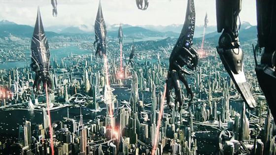 Reaper-Aliens hip/ pesawat alien antagonis di Mass effect yang bentuknya kayak cumi-cumi