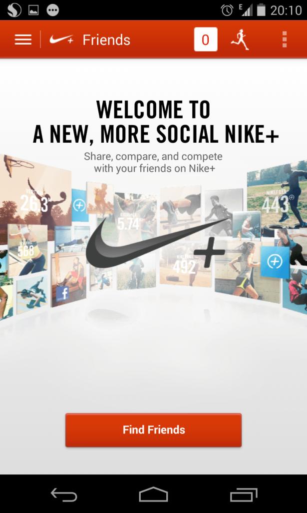 """Ini Penampakan """"Main Menu"""" dari Aplikasi Nike"""