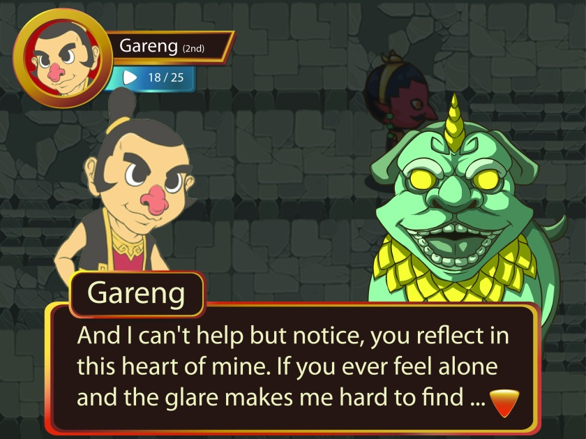 Ini nih penampakan dari game Arca Go! hehehe