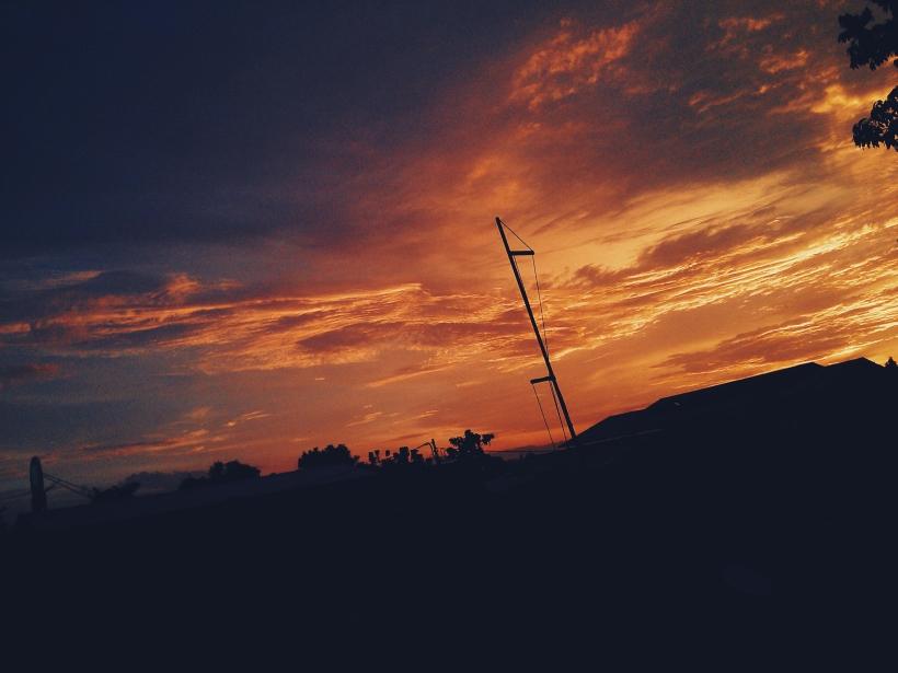 Ini nih foto sunset yang Saya edit di Vsco Camera. Hasilnya gaul juga yah,hehhe