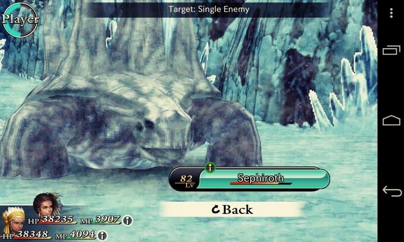 Di Chaos Rings ternyata ada Sephiroth juga loh. Cuman bentuknya ga mirip FF VII,hehehe
