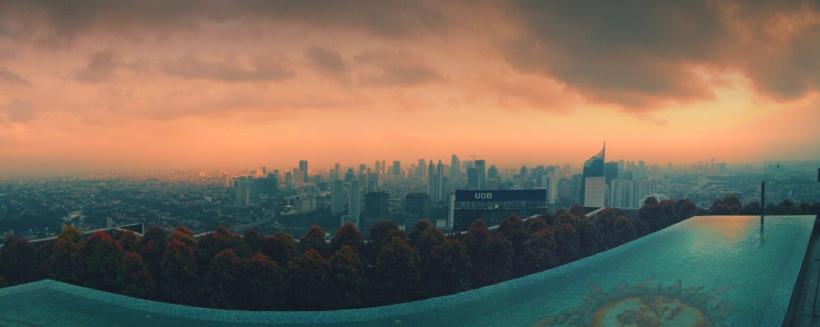 Jakarta in Panoramic picture! Di potret Saat sore hari