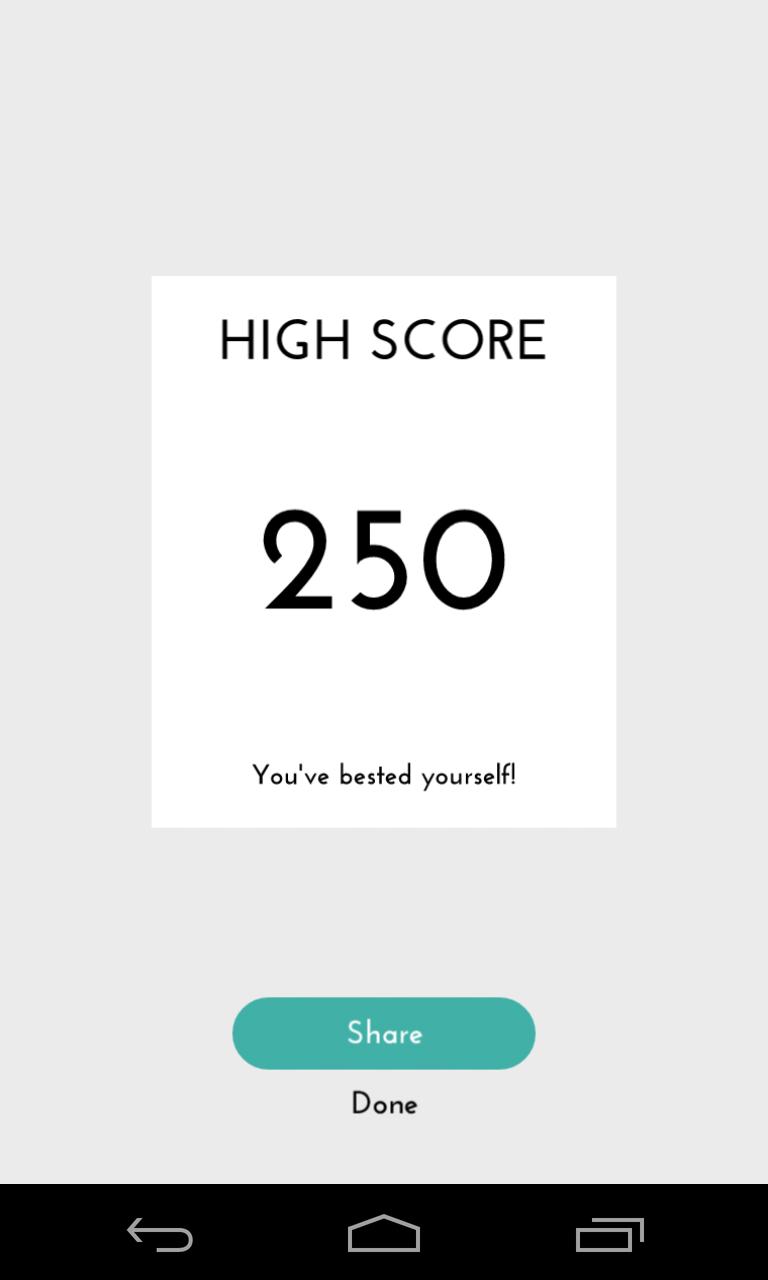 High Score hasil bermain game DOTS