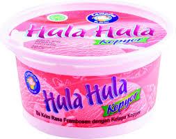 Adu Es krim kelapa: Campina Kopyor. Dengan nama tambahan hula-hula :-)