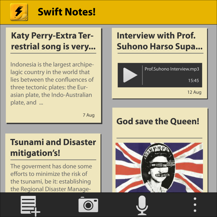 SwiftNotes! ver 1.0.4-Sebuah aplikasi produktivitas untuk BlackBerry 10!
