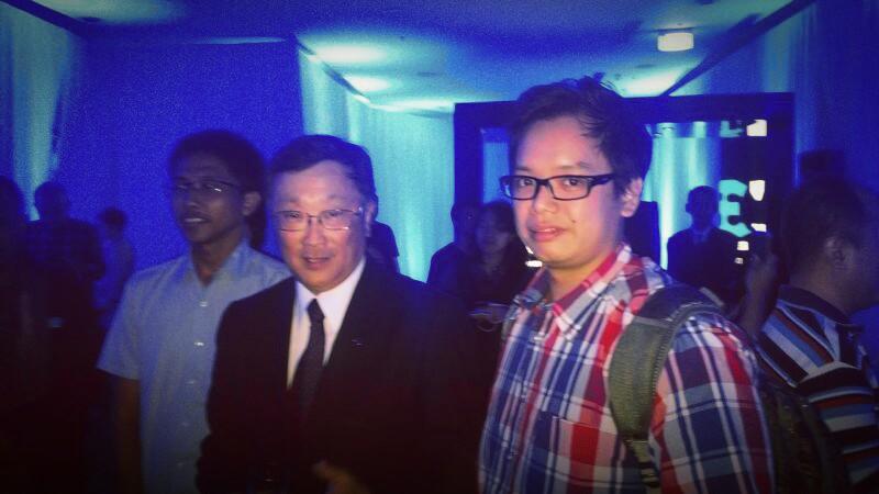 Jakarta dan BlackBerry Jakarta! Bersama CEO BlackBerry John Chen.