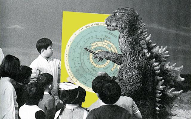 Tiga fase kehidupan Godzilla!: Terkadang kehidupan tak berjalan sesuai keinginan kita. Kalau lagi sepi atau tidak ada orderan film, Godzillapun mengajarkan mata pelajaran fisika Nuklir (6 SKS) kepada para siswa kelas 6 SD di Jepang sana.