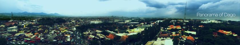 Panorama of Dago!: Foto panorama terpanjang yang pernah Saya jepret.