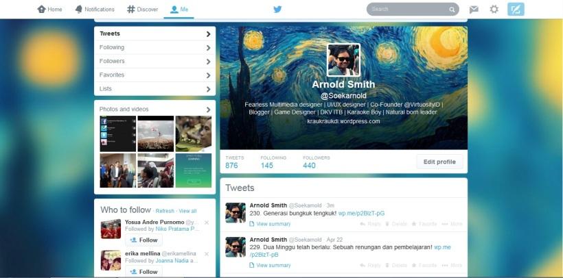 Tampilan baru Twitter=Facebook timeline! Ini dia nih tampilan Twitter yang lama,gimana?keren kan?