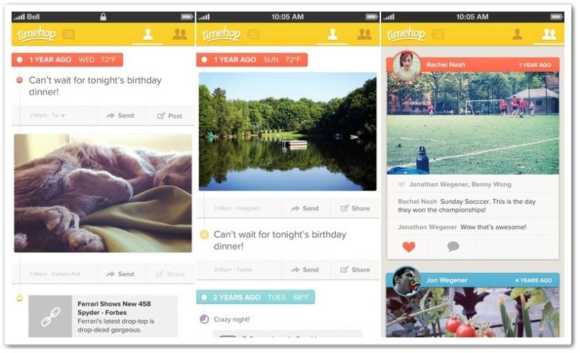 Aplikasi terjebak Nostalgia! Preview aplikasi Timehop