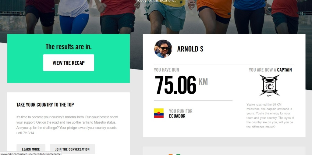 Nike Challenge: Run for your nation! (Ecuador)