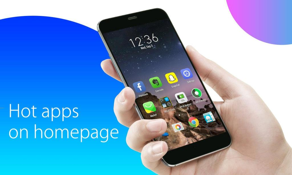 Salah satu solusi untuk mempercepat kinerja Android! APUS Launcher sang Andalanku :-)