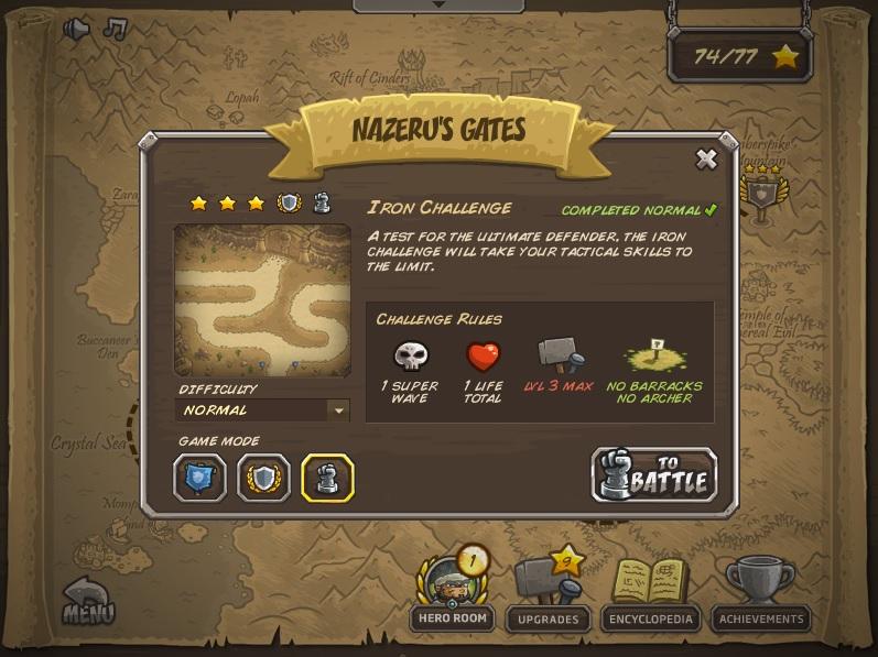 Strategi memenangkan level paling sulit di kingdom Rush Frontiers:(nazeru gate) . Ini Dia nih penampakan levelnya,