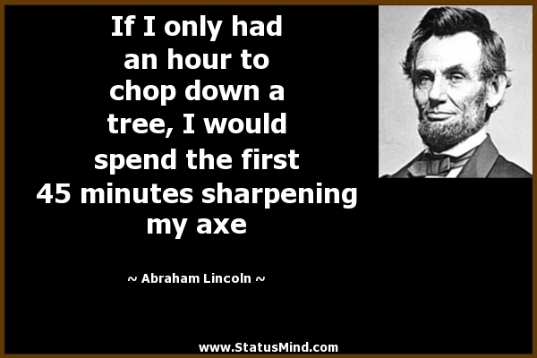 409. Desainer dan Deadline! Qoutes dari Abraham Lincoln yang sangat amat benar adanya...
