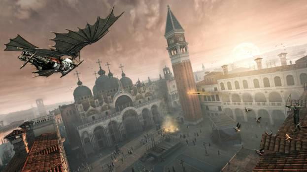 443. Game Assassins Creed terbaik! Ezio dan mesin terbang Davinci. Keren kan coy?