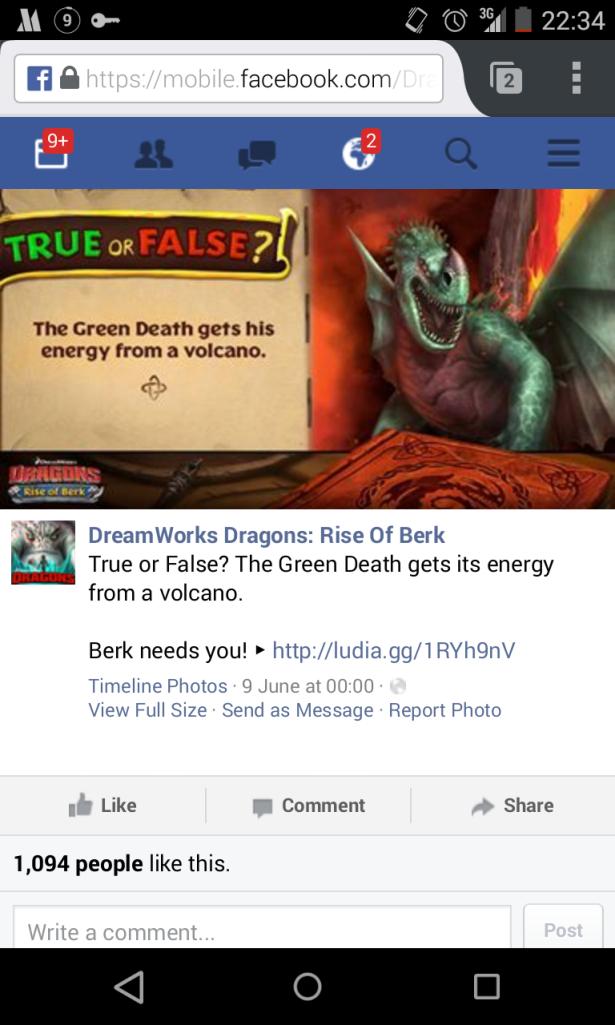435. Game Design: Dragons Rise of berk dari cinta jadi benci!  Ini dia kampanye media sosial dari sang developer
