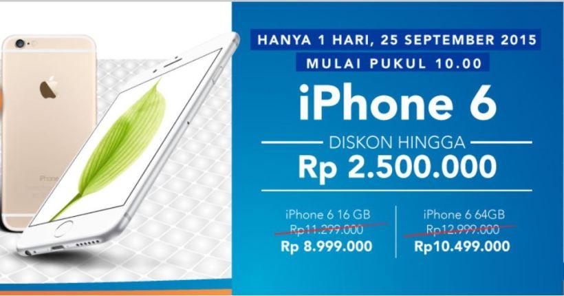 450. UX Design: Jebakan promo! Ini nih tampilan yang promo. Perhatikan harga iPhone 6 yang 64GBnya yah.