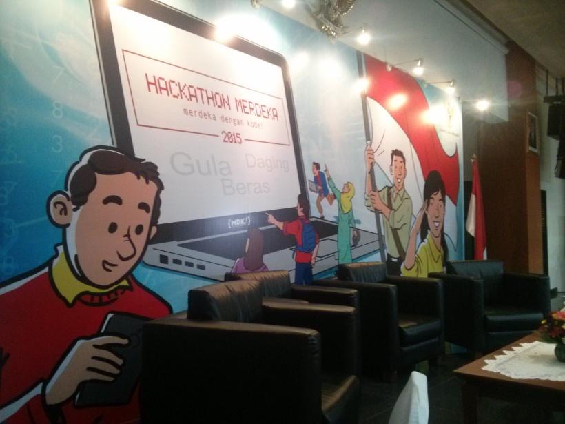 456. 3 Tips menjalani Hackathon! Ini dia backdrop hackathon yang Saya ikuti
