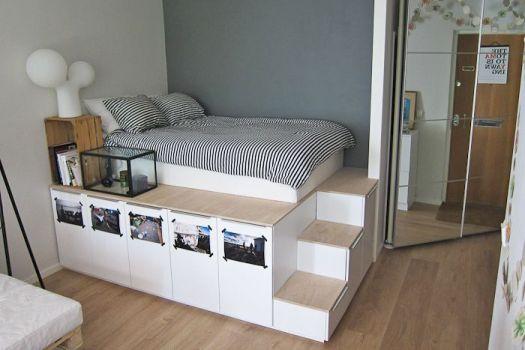 504. Time hackspace. Contoh ruang tidur buatan IKEA. ngeri jatoh juga ya?